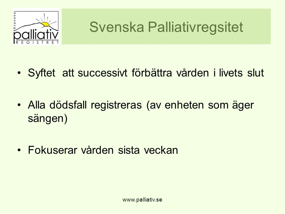 Svenska Palliativregsitet