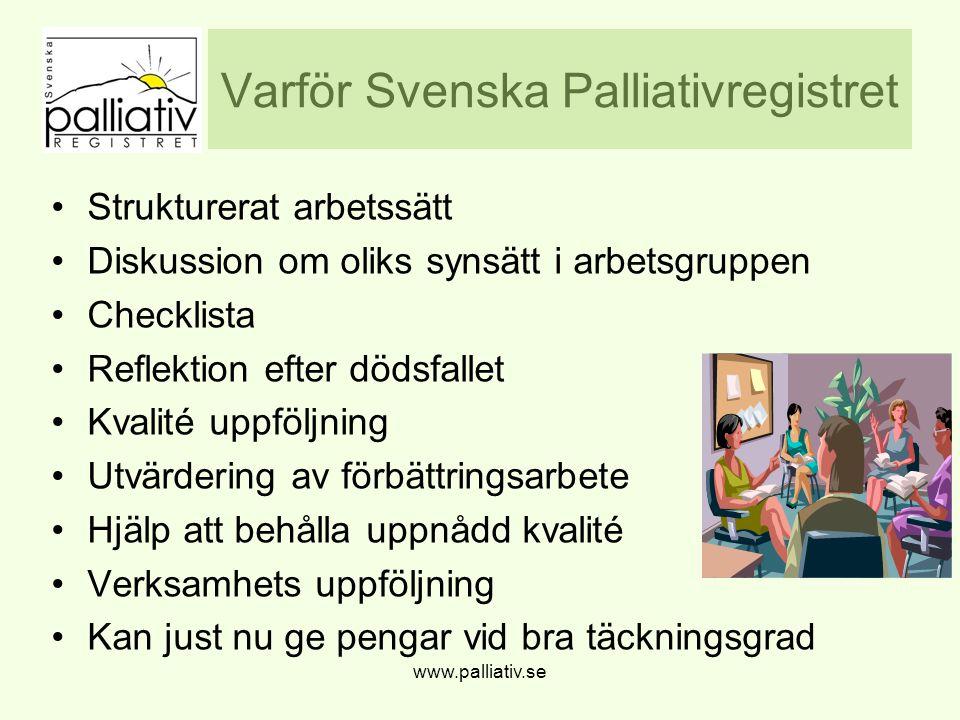 Varför Svenska Palliativregistret