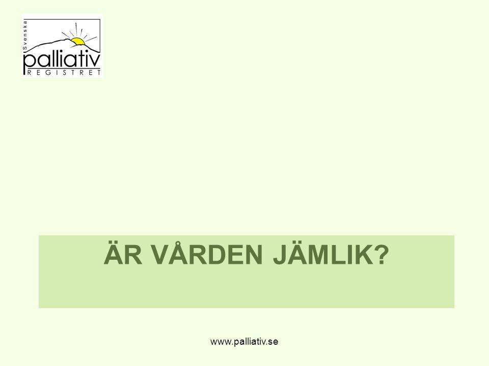 Är vården jämlik www.palliativ.se