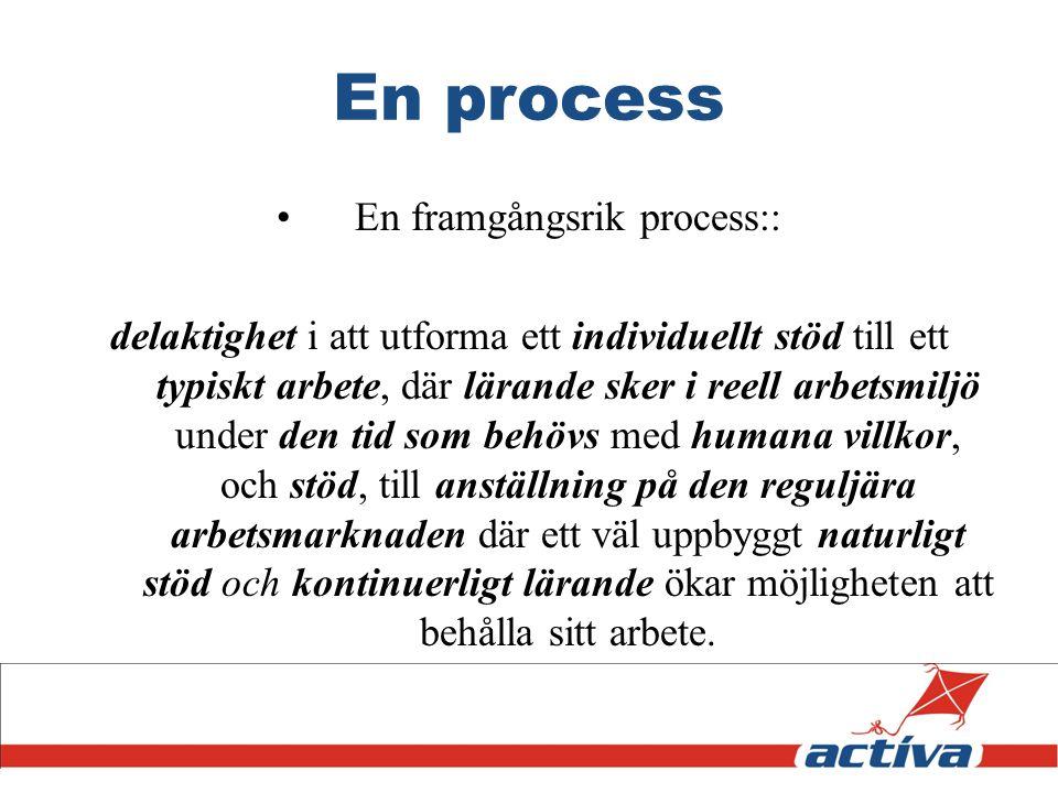 En framgångsrik process::