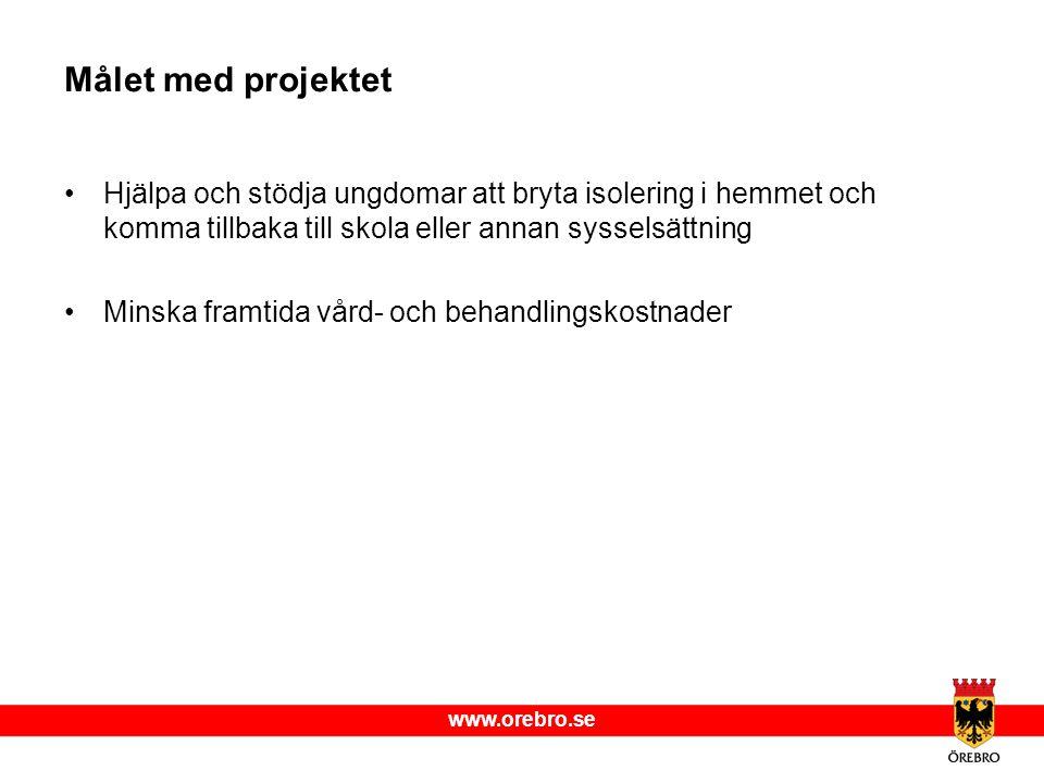 Målet med projektet Hjälpa och stödja ungdomar att bryta isolering i hemmet och komma tillbaka till skola eller annan sysselsättning.