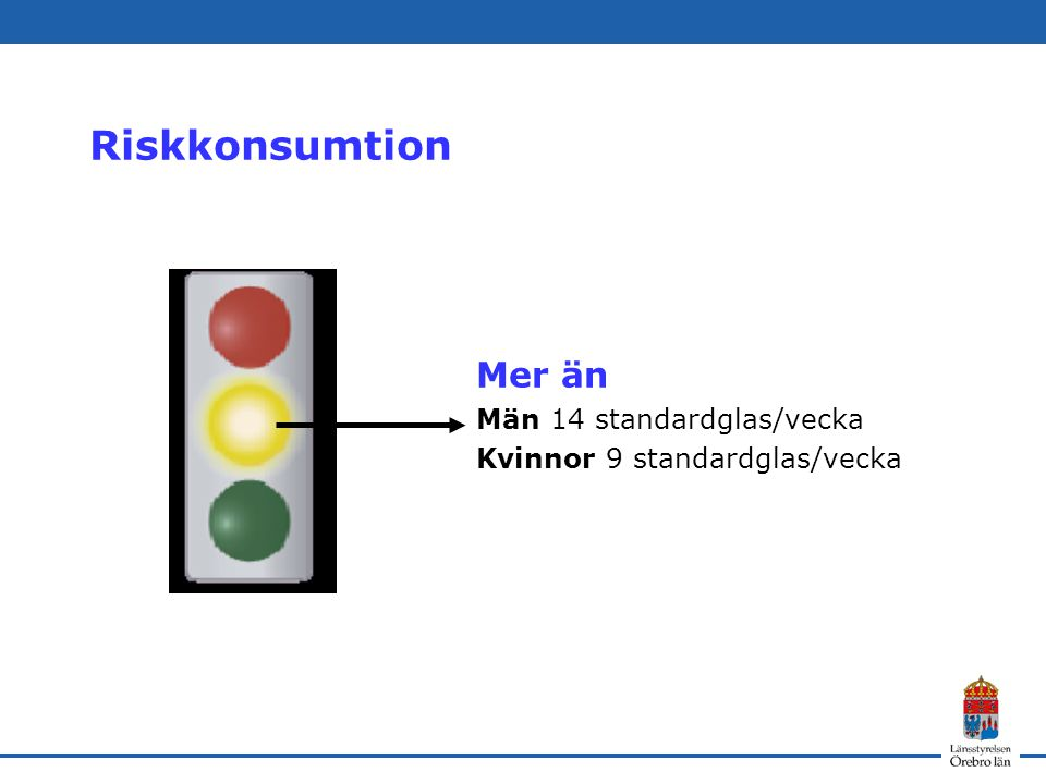 Riskkonsumtion Mer än Män 14 standardglas/vecka