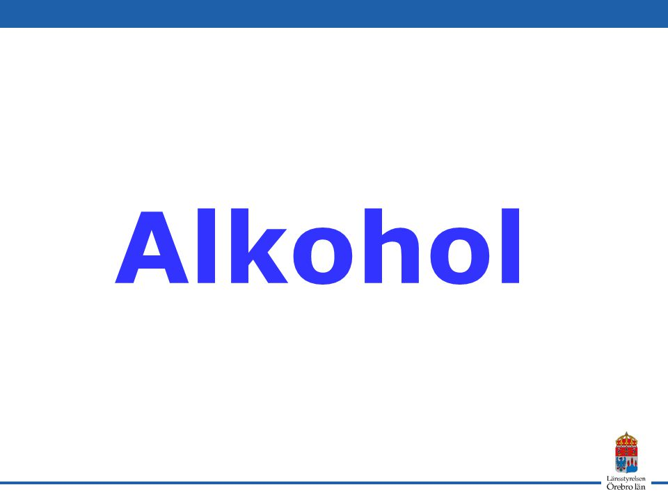 Alkohol SoRADs kartläggning Centrum för Socialvetenskaplig alkohol- och drogforskning (SoRAD)