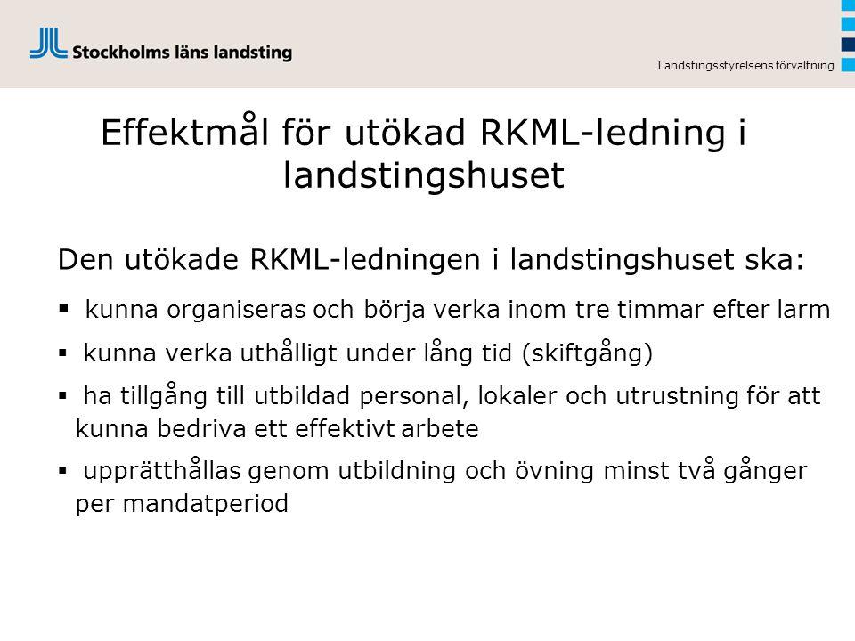 Effektmål för utökad RKML-ledning i landstingshuset