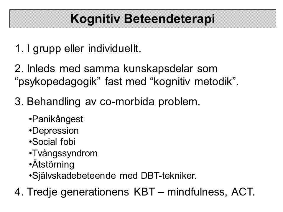 Kognitiv Beteendeterapi