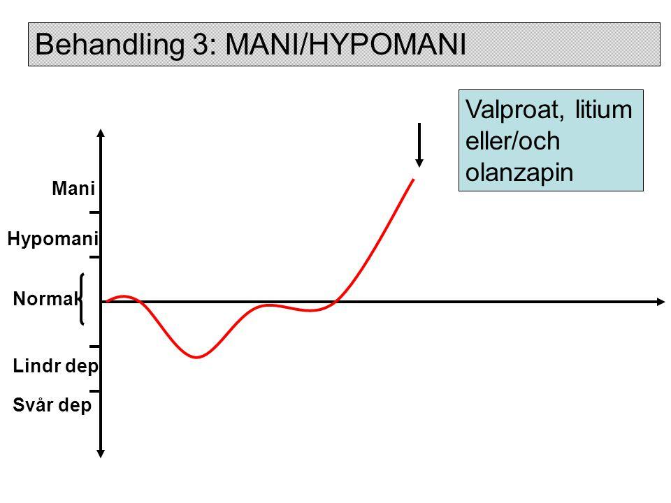 Behandling 3: MANI/HYPOMANI