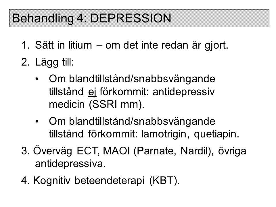 Behandling 4: DEPRESSION