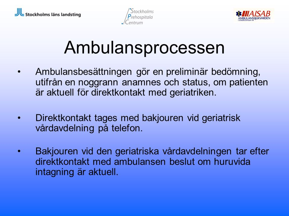 Ambulansprocessen
