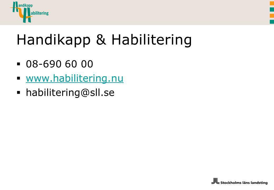 Handikapp & Habilitering