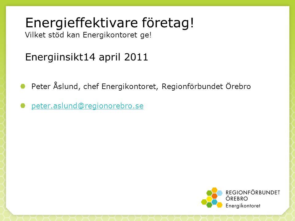 Energieffektivare företag. Vilket stöd kan Energikontoret ge