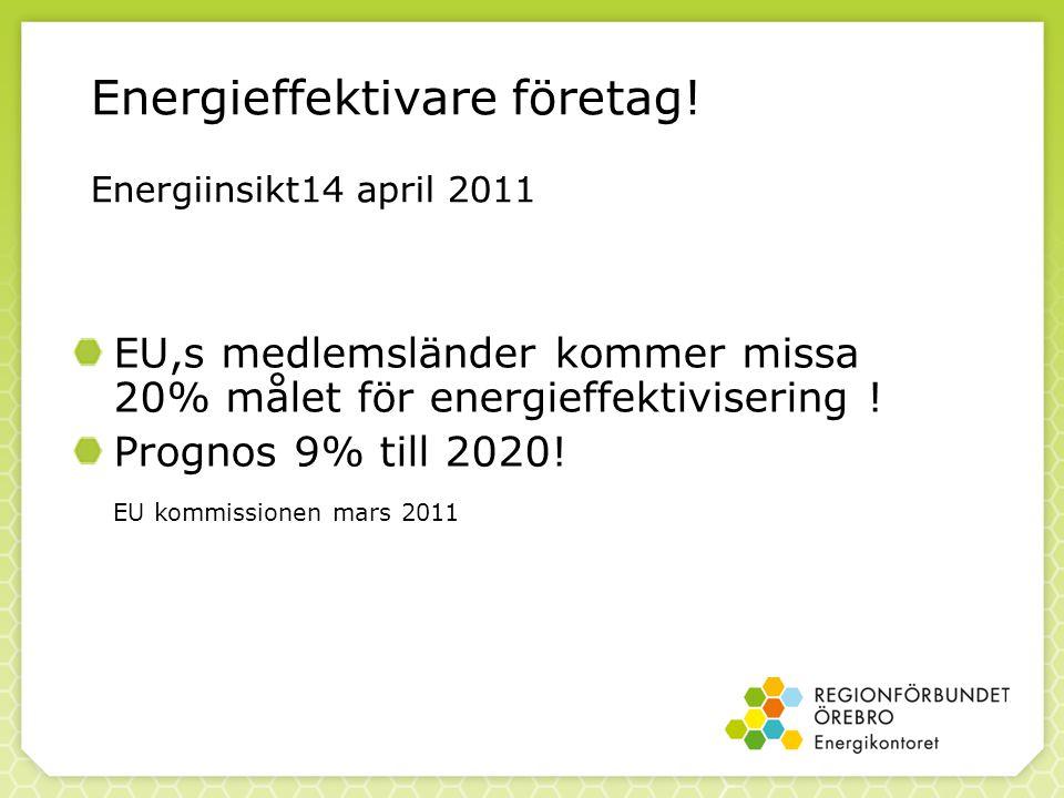Energieffektivare företag! Energiinsikt14 april 2011