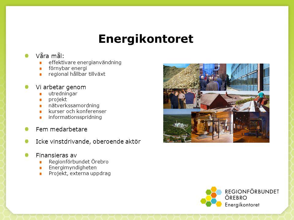 Energikontoret Våra mål: Vi arbetar genom Fem medarbetare