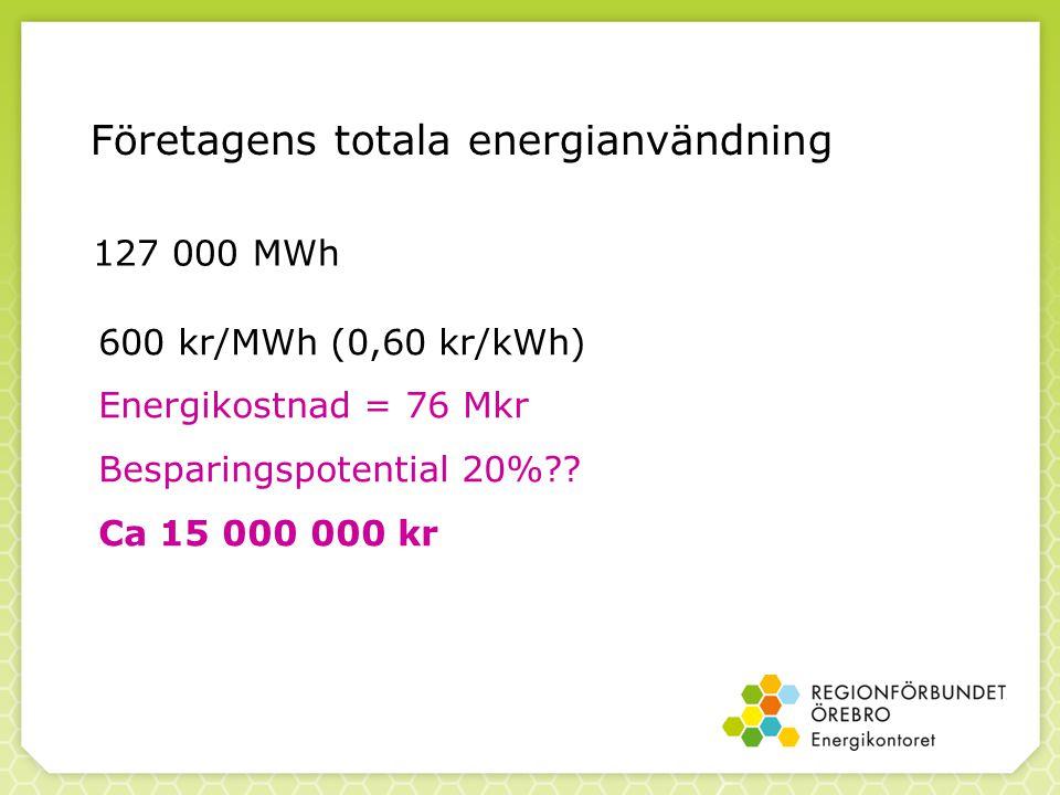 Företagens totala energianvändning
