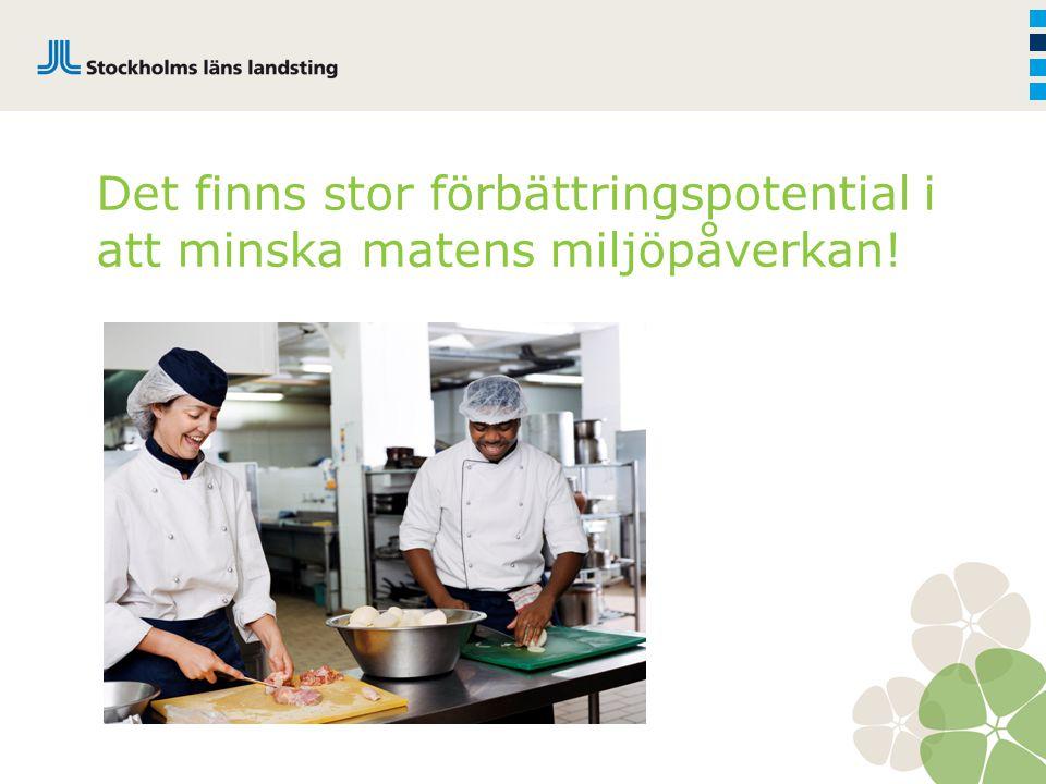 Det finns stor förbättringspotential i att minska matens miljöpåverkan!