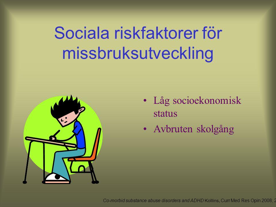 Sociala riskfaktorer för missbruksutveckling