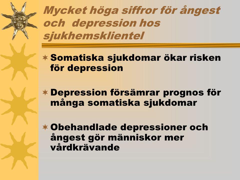 Mycket höga siffror för ångest och depression hos sjukhemsklientel
