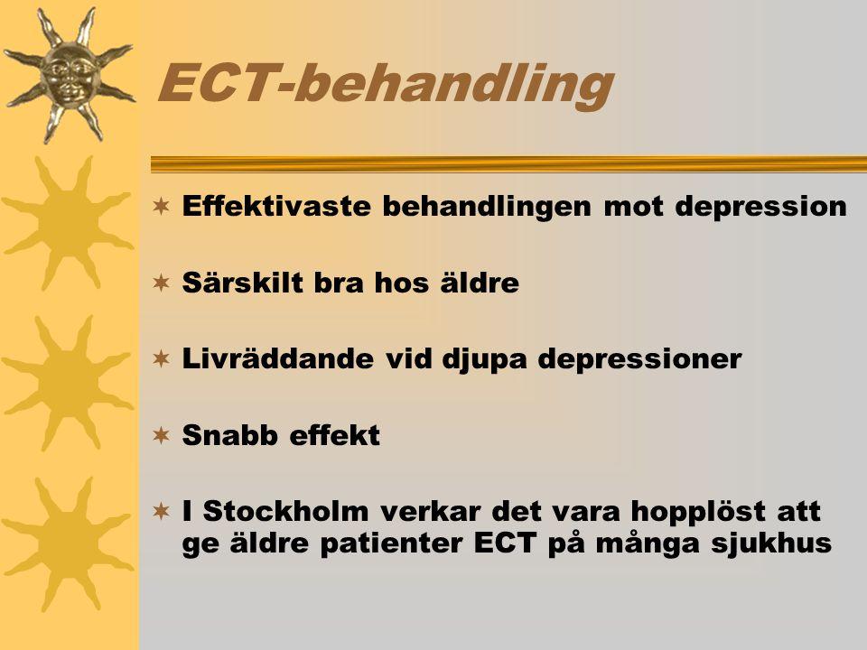ECT-behandling Effektivaste behandlingen mot depression