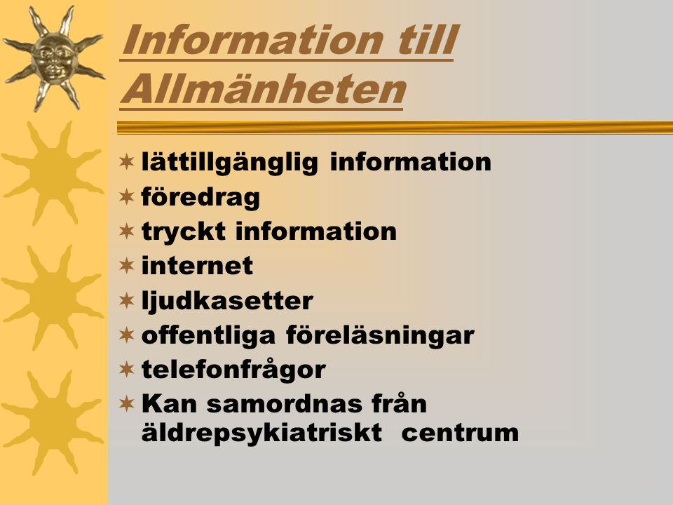 Information till Allmänheten