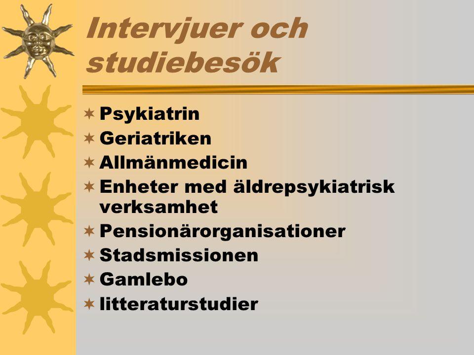 Intervjuer och studiebesök