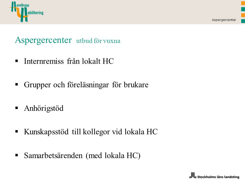 Aspergercenter utbud för vuxna