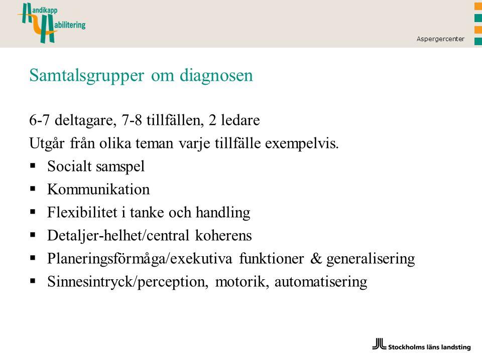 Samtalsgrupper om diagnosen