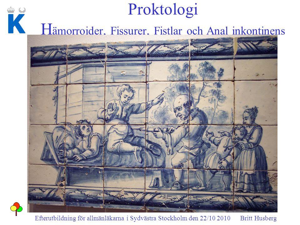 Proktologi Hämorroider, Fissurer, Fistlar och Anal inkontinens