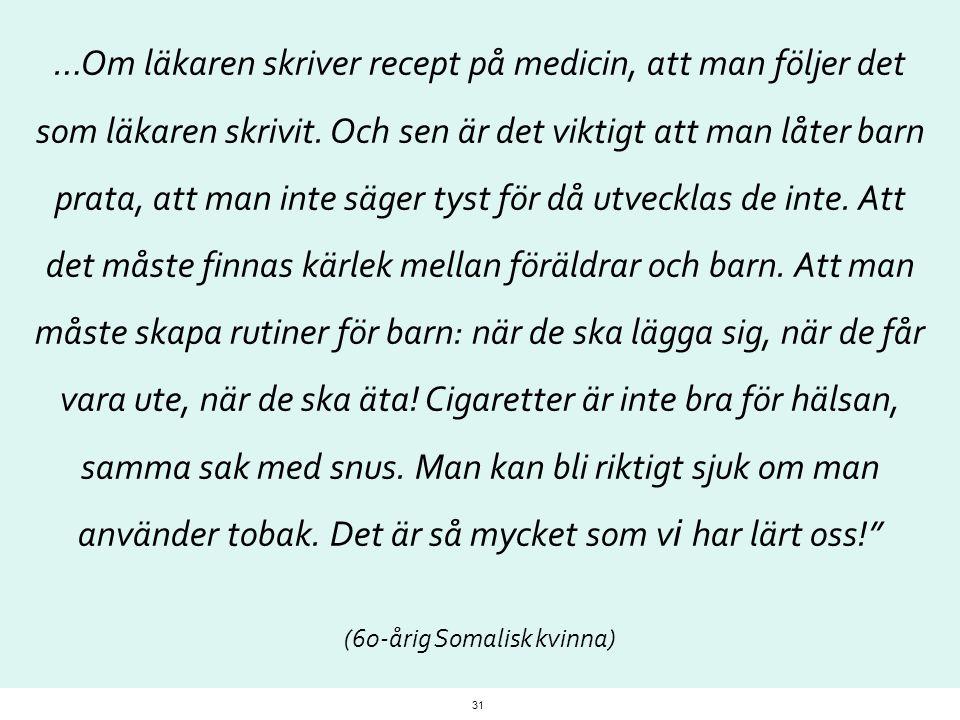 (60-årig Somalisk kvinna)