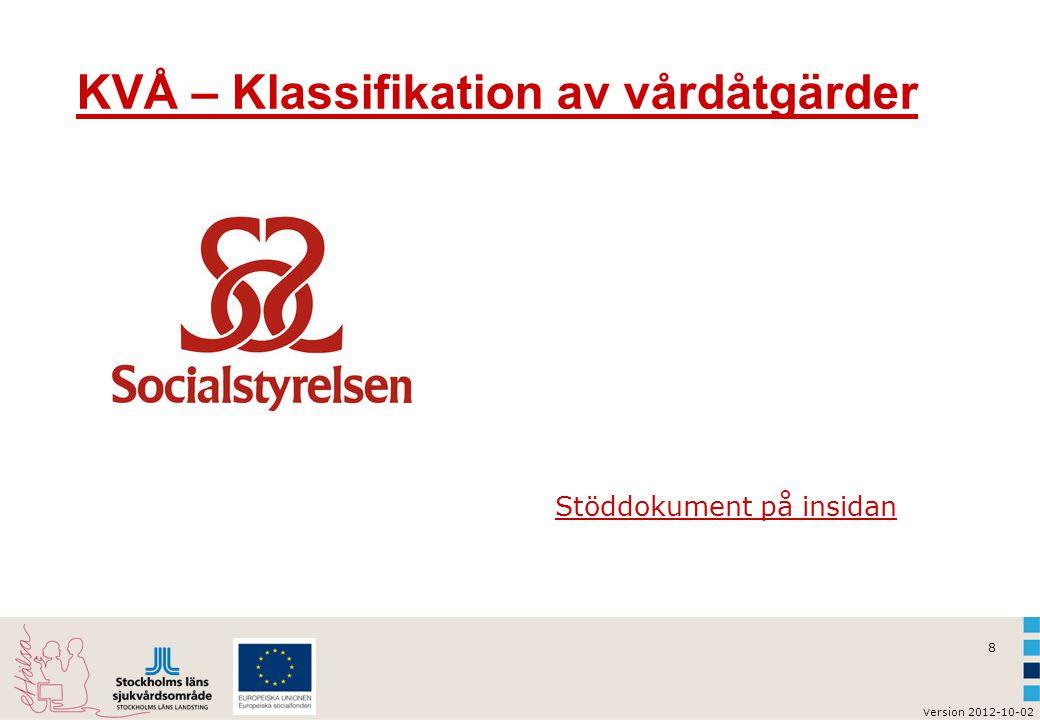 KVÅ – Klassifikation av vårdåtgärder