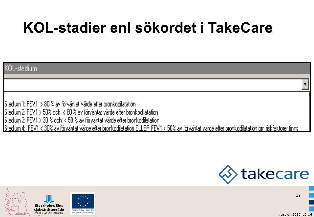 KOL-stadier enl sökordet i TakeCare