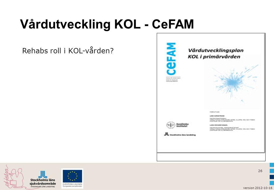 Vårdutveckling KOL - CeFAM