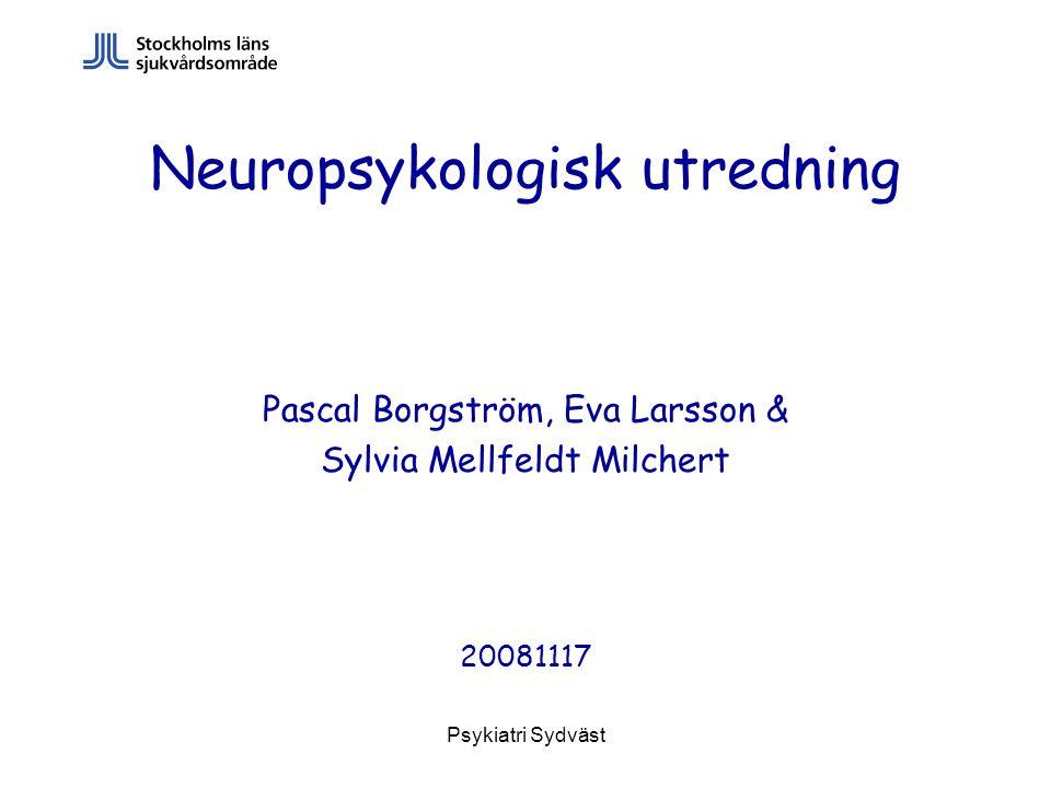 Neuropsykologisk utredning