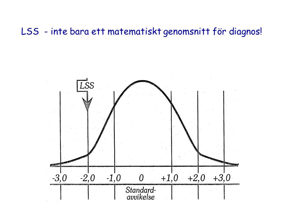 LSS - inte bara ett matematiskt genomsnitt för diagnos!