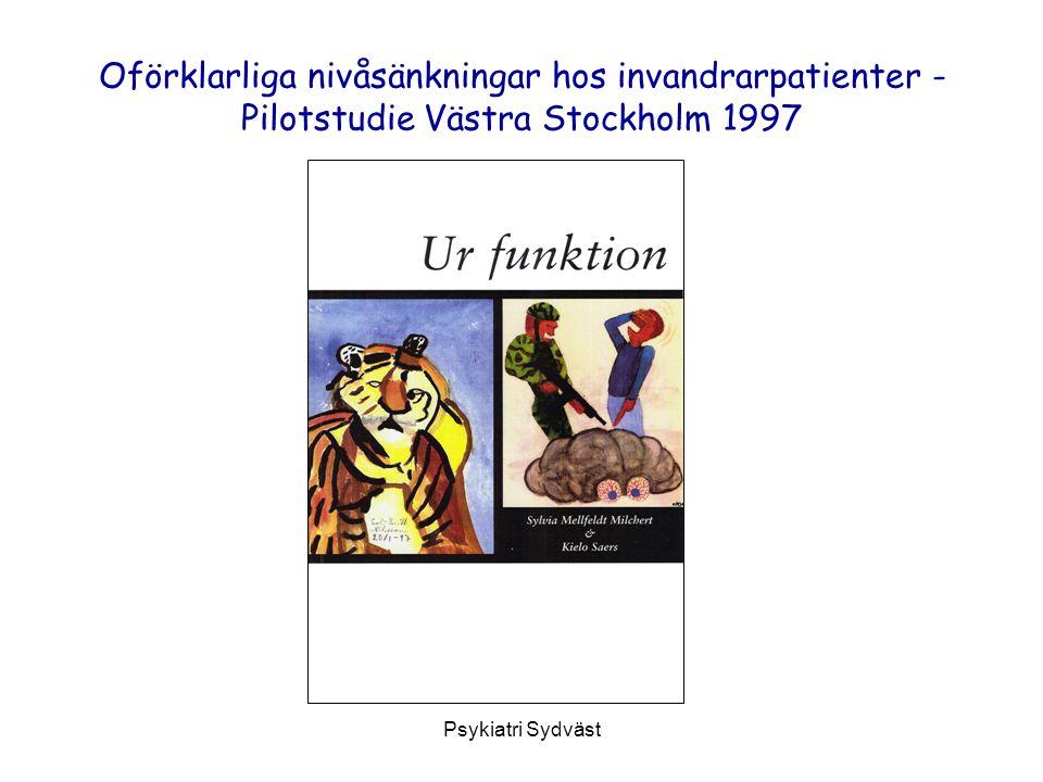 Oförklarliga nivåsänkningar hos invandrarpatienter - Pilotstudie Västra Stockholm 1997