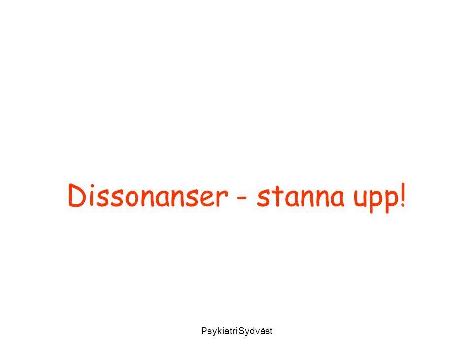 Dissonanser - stanna upp!