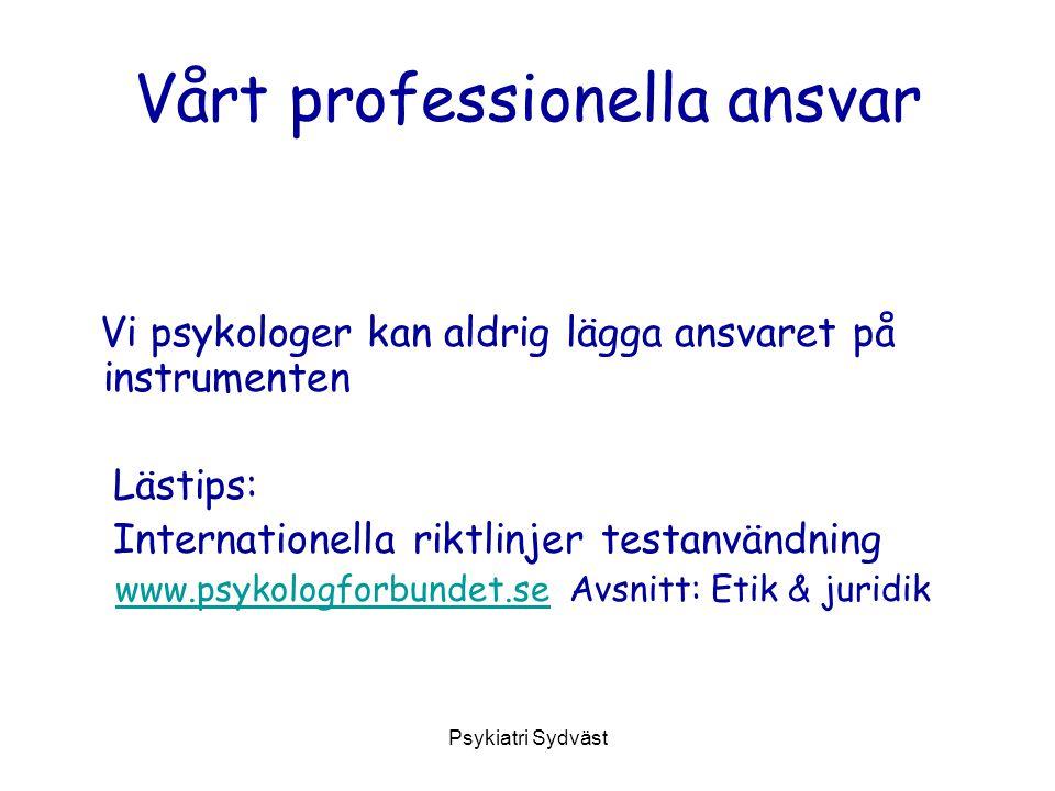 Vårt professionella ansvar