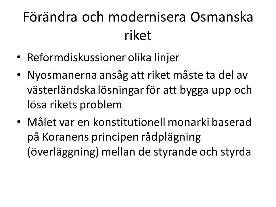 Förändra och modernisera Osmanska riket