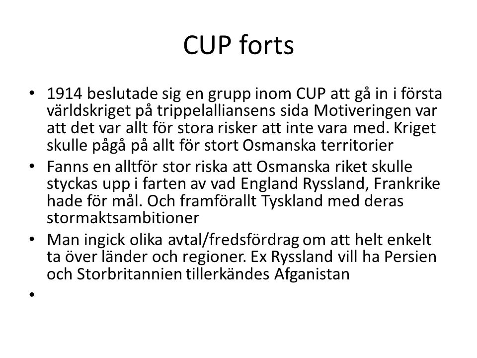 CUP forts