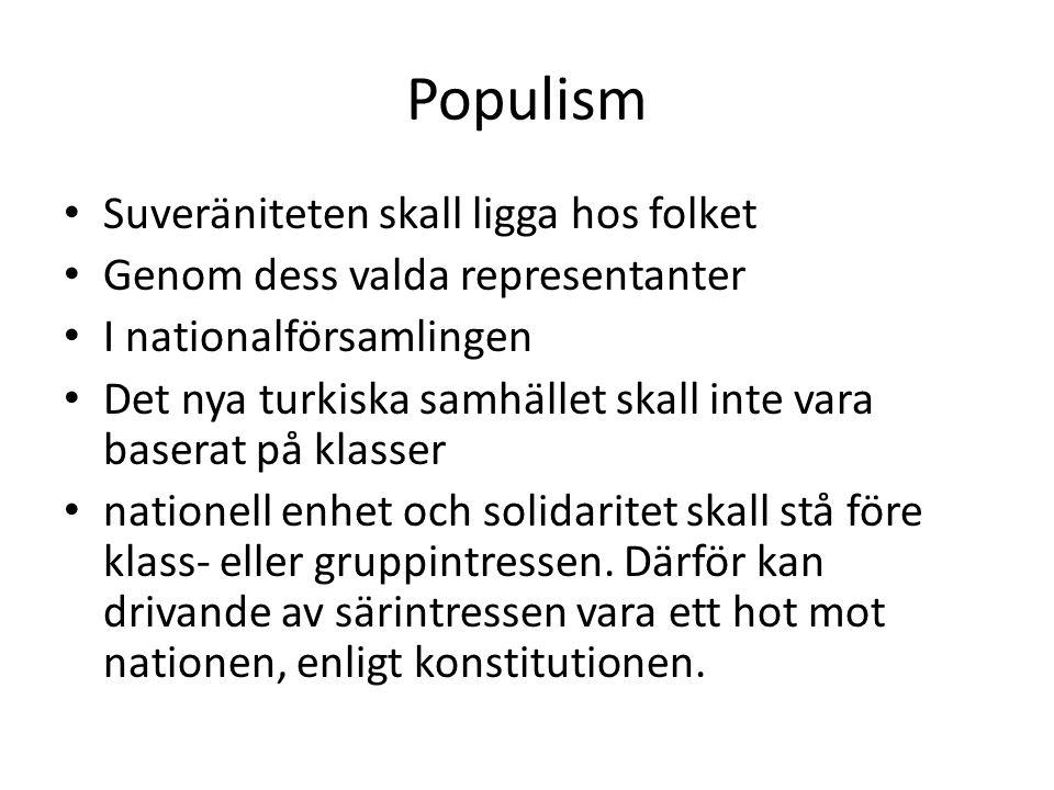 Populism Suveräniteten skall ligga hos folket