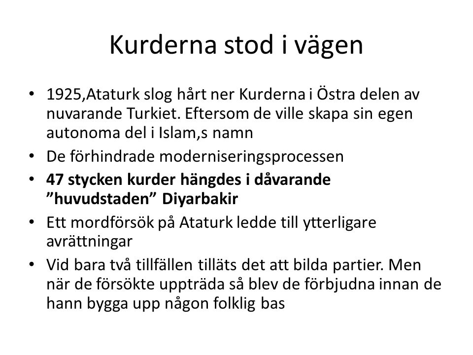 Kurderna stod i vägen