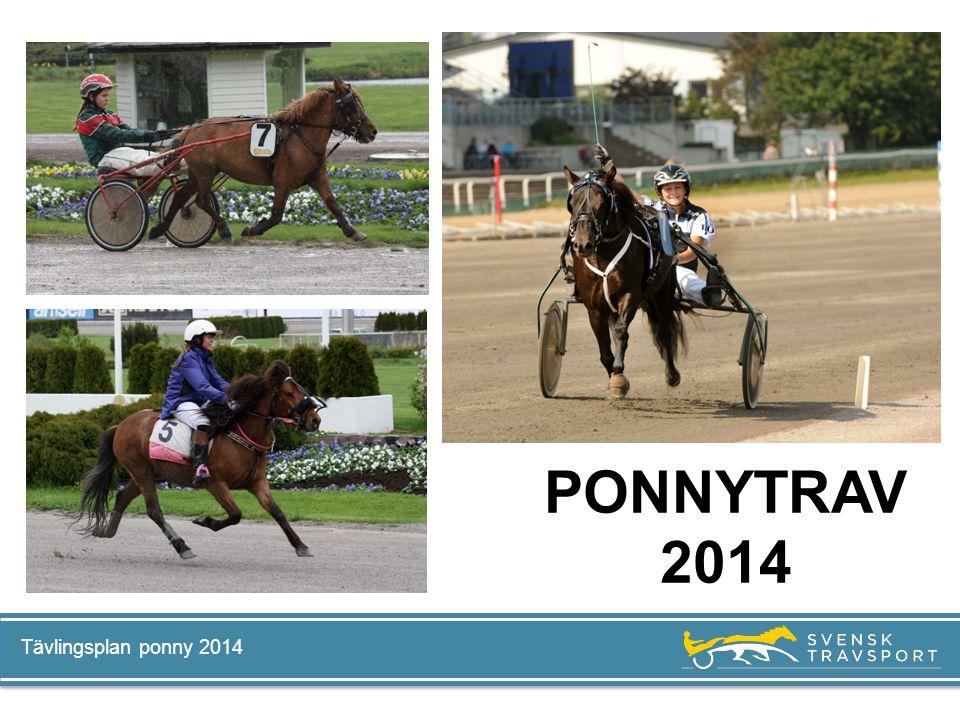 PONNYTRAV 2014 Tävlingsplan ponny 2014