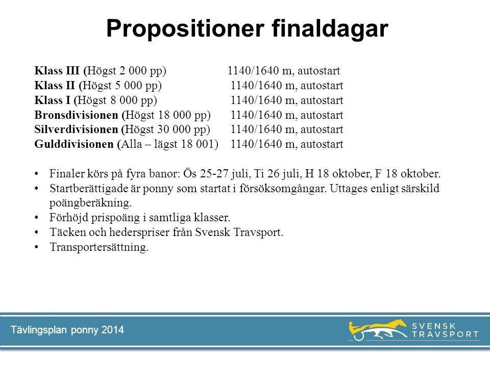 Propositioner finaldagar
