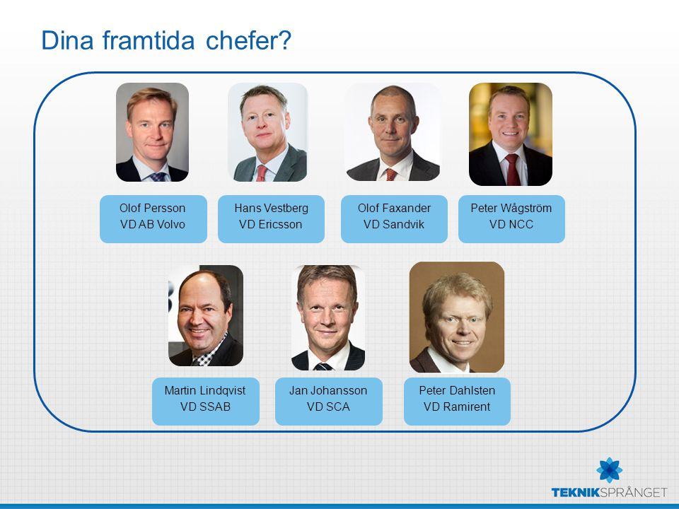 Dina framtida chefer Olof Persson VD AB Volvo Hans Vestberg