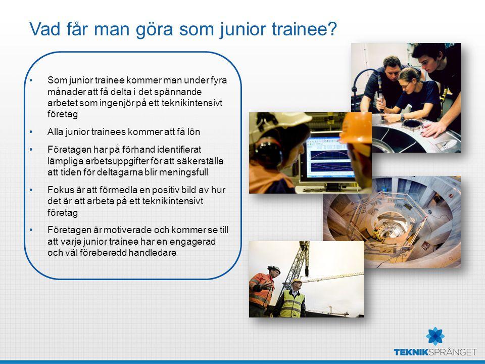 Vad får man göra som junior trainee