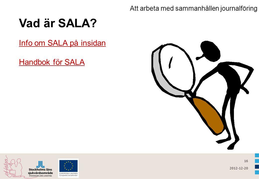 Vad är SALA Info om SALA på insidan Handbok för SALA