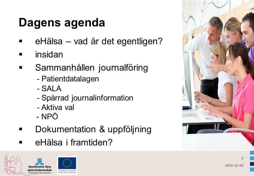 Dagens agenda eHälsa – vad är det egentligen insidan