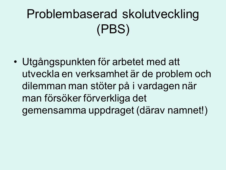 Problembaserad skolutveckling (PBS)