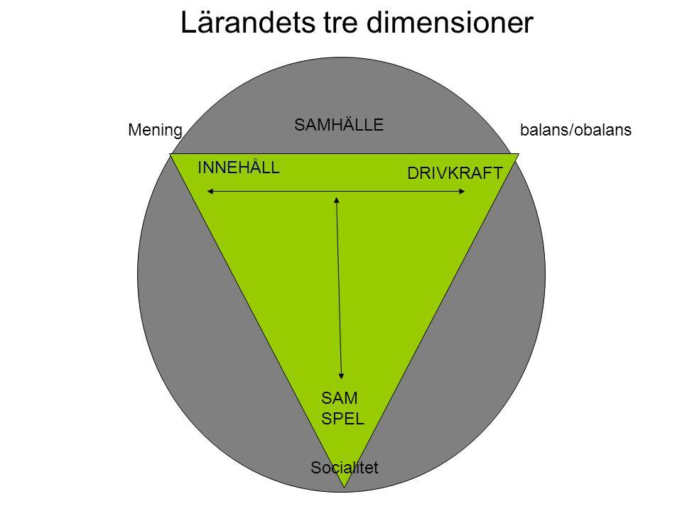 Lärandets tre dimensioner