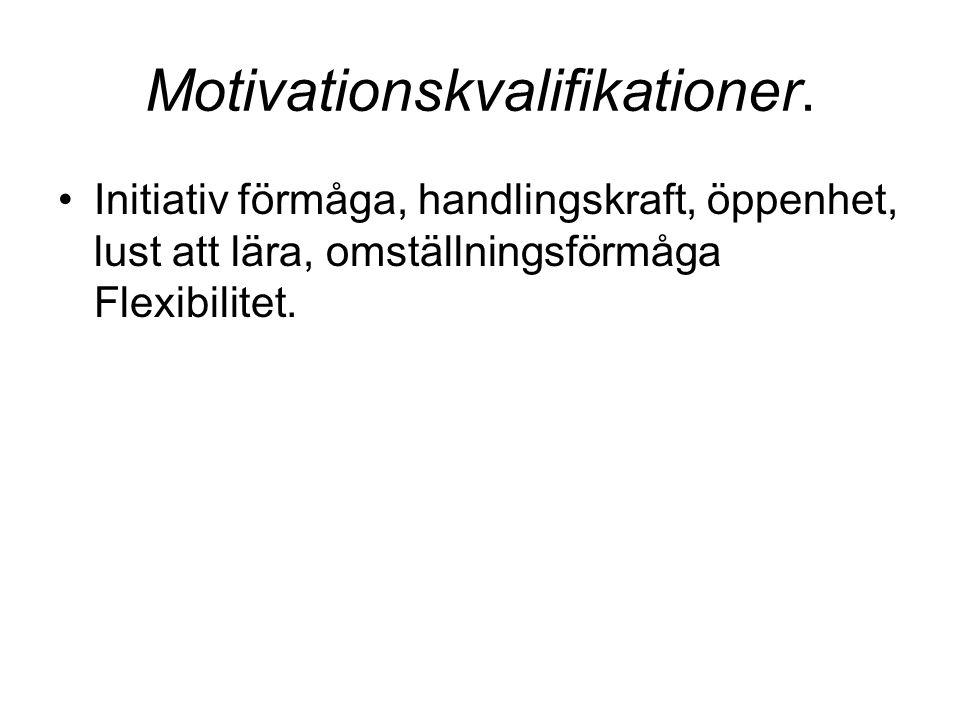 Motivationskvalifikationer.