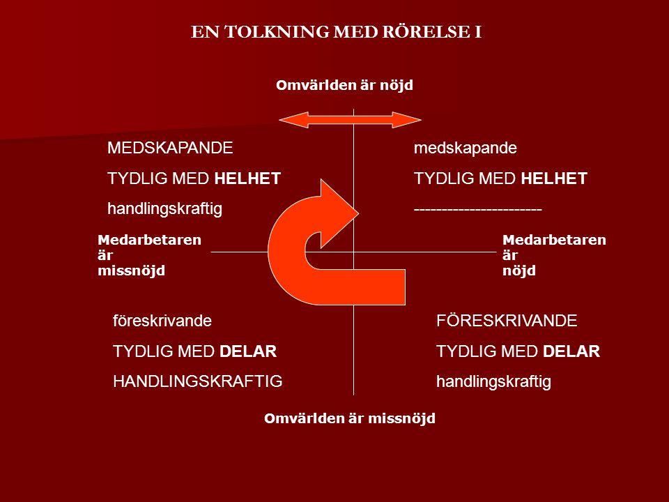 EN TOLKNING MED RÖRELSE I