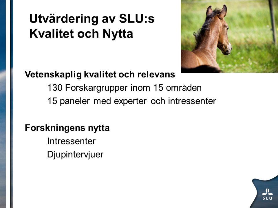 Utvärdering av SLU:s Kvalitet och Nytta